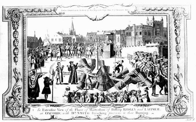 An Extensive View of the Place of Martyrdom of Bishop Ridley