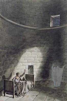 Madame de Guiche and her Daughter Appear at Night before the Artist in Prison, 1804
