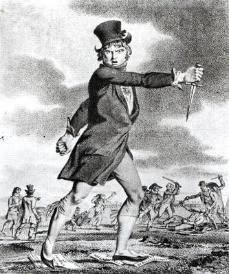 'The Friend of Justice and Liberty', Jacobin caricature of the anti-Jacobin Society of the Sun, 1795