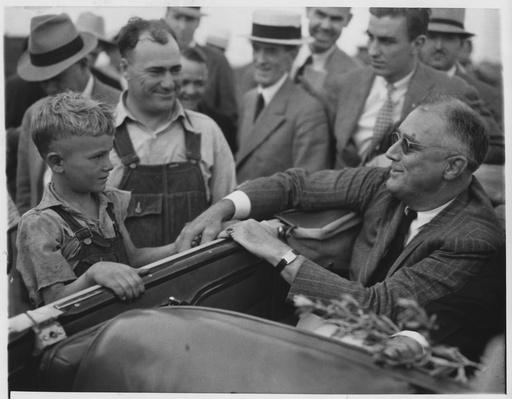 President Franklin D. Roosevelt Greets Farmers | Ken Burns: The Roosevelts
