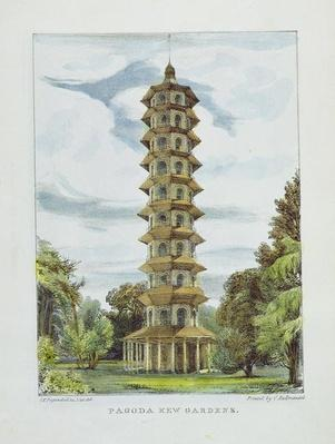 Pagoda, Kew Gardens, plate 9 from 'Kew Gardens: A Series of Twenty-Four Drawings on Stone', engraved by Charles Hullmandel