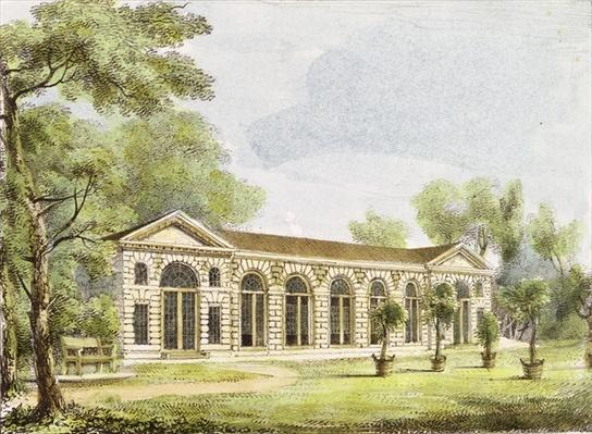 Orangery, Kew Gardens, plate 11 from 'Kew Gardens: A Series of Twenty-Four Drawings on Stone', engraved by Charles Hullmandel