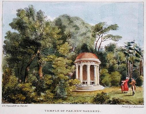 Temple of Pan, Kew Gardens, plate 12 from 'Kew Gardens: A Series of Twenty-Four Drawings on Stone', engraved by Charles Hullmandel