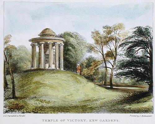Temple of the Sun, Arboretum, Kew Gardens, plate 20 from 'Kew Gardens: A Series of Twenty-Four Drawings on Stone', engraved by Charles Hullmandel