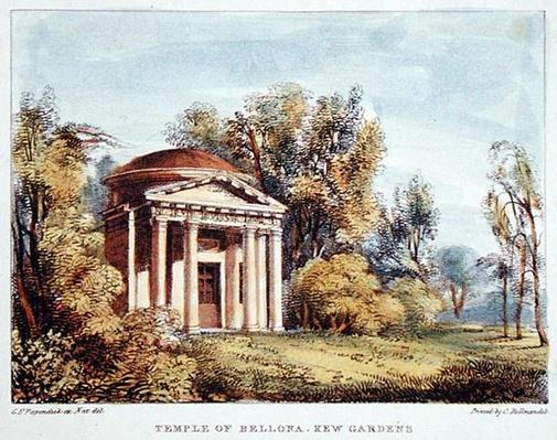 Temple of Bellona, Kew Gardens, plate 24 from 'Kew Gardens: A Series of Twenty-Four Drawings on Stone', engraved by Charles Hullmandel