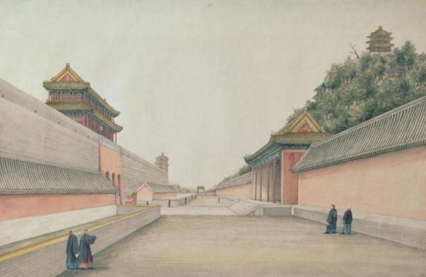 The Imperial Palace in Peking, from a collection of Chinese Sketches, 1804-06