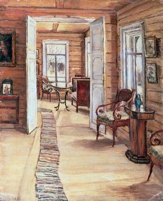 Interior of L. Panteleev's house in Murmanov, 1913