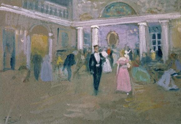 Ball at Larins, an illustration for 'Eugene Onegin', by Alexander Pushkin