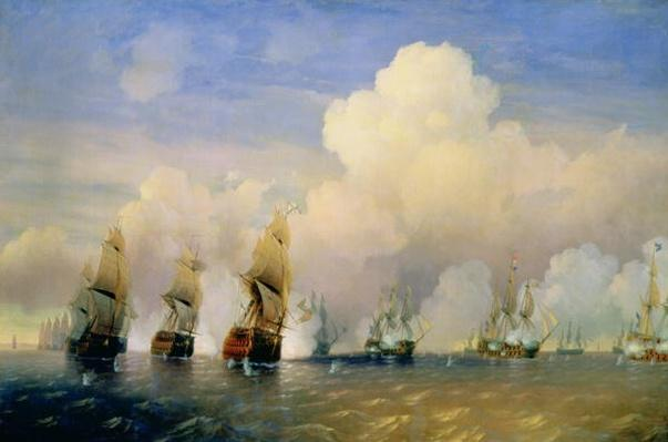 The Russo-Swedish Sea War near Kronstadt in 1790
