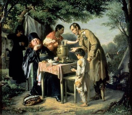 Tea Drinking in Mytishchi, near Moscow, 1862