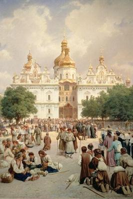 The Great Church of Kievo-Pecherskaya Lavra in Kiev, 1905