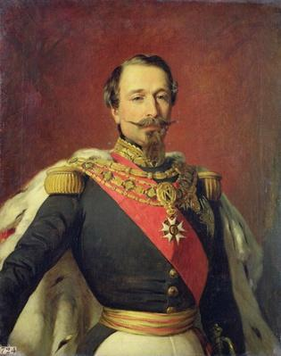 Portrait of Emperor Louis Napoleon III, after the original painting by Francois Xavier Winterhalter