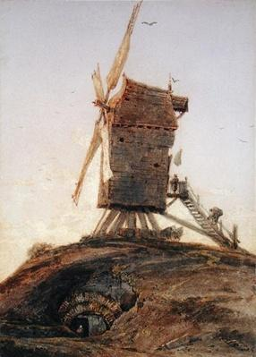 Windmill on a Knoll in a Landscape