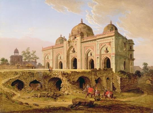 The Qal' A-l-Kuhna Masjid, Purana Qila, Delhi, c.1823