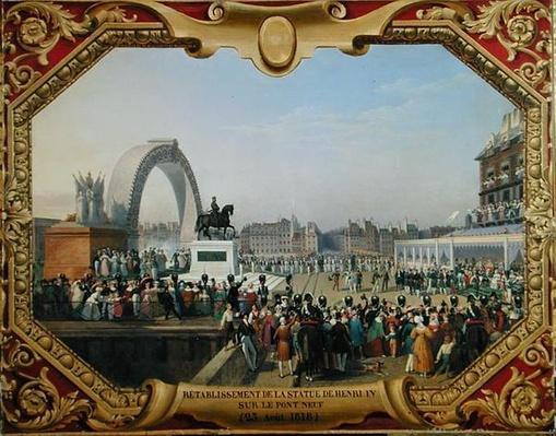 Re-establishment of the Statue of Henri IV