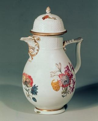 Meissen coffee pot, c.1740-50