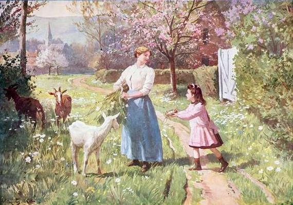 Easter Eggs in the Country, 1908