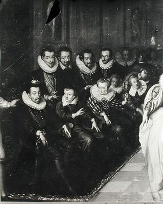 The Joyeuse Ball, given at the Louvre on the occasion of the marriage of Anne Duke of Joyeuse