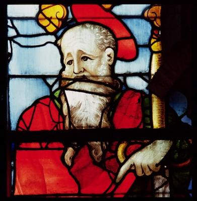 St. Paul, detail from the window depicting the four evangelists and four doctors of the church, south transept, 1551