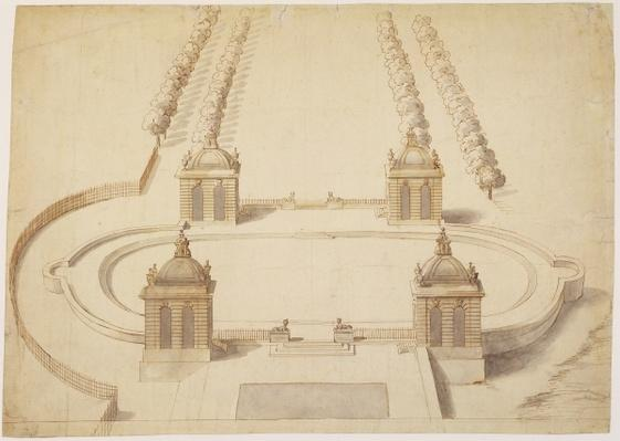 Design for a Bowling Green, Hampton Court, c.1689-91