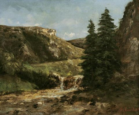 Landscape near Ornans, c.1858
