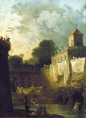 Washerwomen in the Moat of an Italian Villa