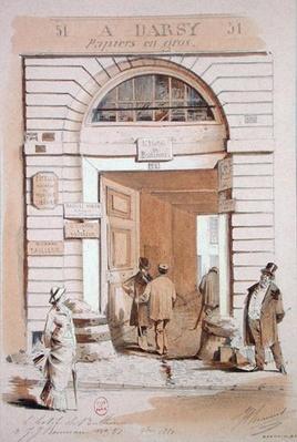 Entrance of the Hotel Bullion, 57 rue Jean-Jeacques Rousseau, Paris, 1880