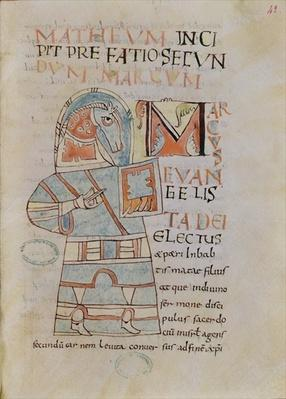 Ms 8 f.42 St. Mark the Evangelist