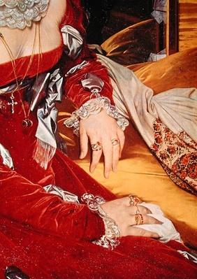 Madame de Senonnes, detail of her arms, 1814-16