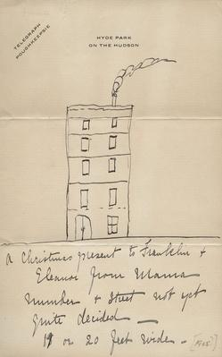 Sketch of Townhouse Sara Roosevelt Planned to Build for Franklin and Eleanor | Ken Burns: The Roosevelts
