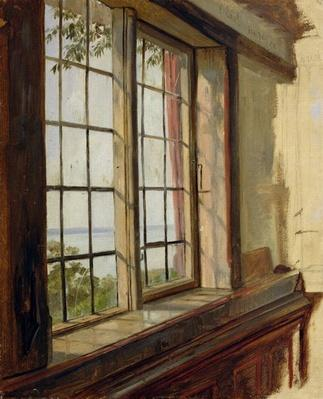 View of the Elbe through a Window, 1838