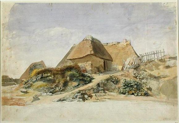 Fishermen's Cabins at the Hopesberg Beach, 1834