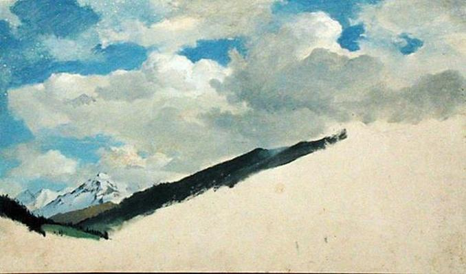 Study of Clouds with Mountain Tops, 1830