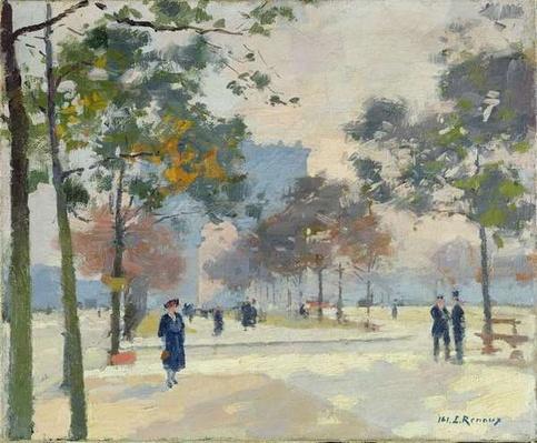 The Arc de Triomphe in Autumn, Paris
