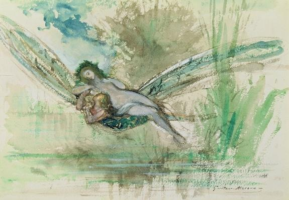 Dragonfly, c.1884 by Moreau, Gustave (1826-98)