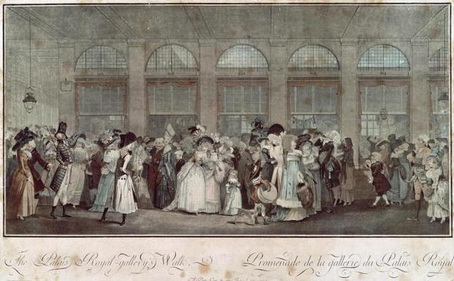 The Palais Royal Gallery's Walk, 1787