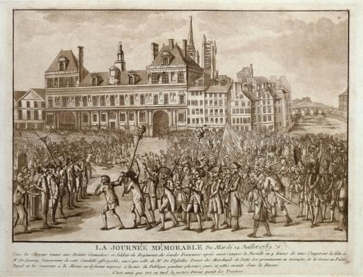 The Heads of Launay and Flesselles Promenaded before the Hotel de Ville, 14th July 1789