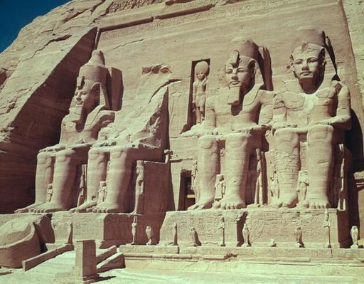 Four colossal figures of the king, from the Temple of Ramesses II, New Kingdom, c.1279-1213 BC