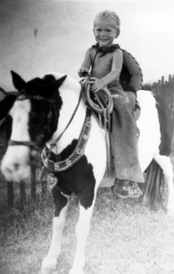Young George W. Bush on Horseback