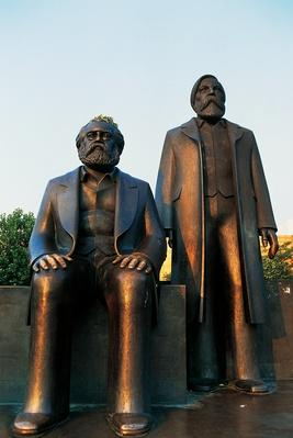 Statues of Marx and Engels, Marx-Engels Forum (1986) | The Study of Economics