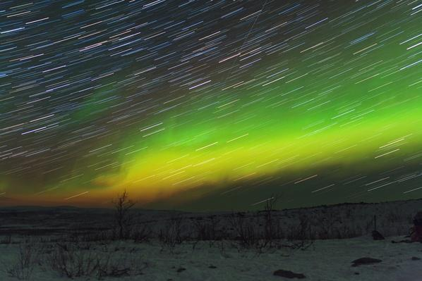 Aurora Borealis and star trails | Weather