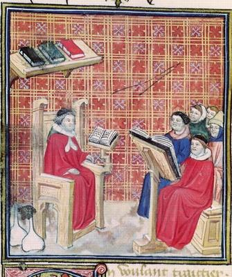 Ms 993 f.43v Teaching of the different parts of the human body, from 'Le Livre des Proprietes des Choses' by Jean Cordichon