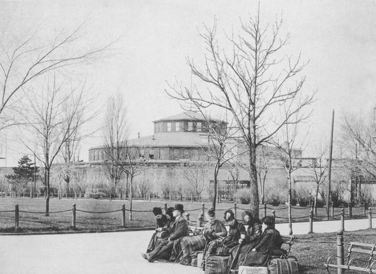 Immigrants On Benches At Castle Garden | U.S. Immigration | 1840's to present | U.S. History
