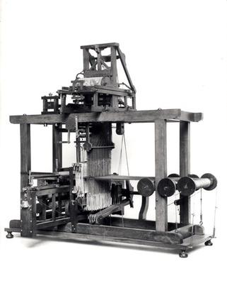 First fully automated loom invented by Jacques de Vaucanson