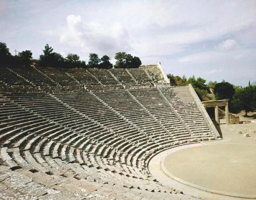 View of the theatre, c.360 BC