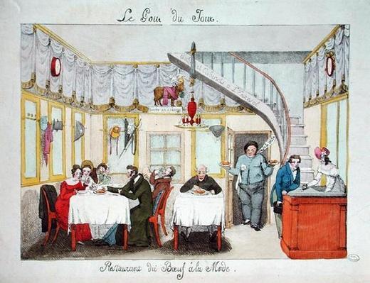 'Le Boeuf a la Mode', rue Valois, Paris, from 'Le Gout du Jour', c.1830