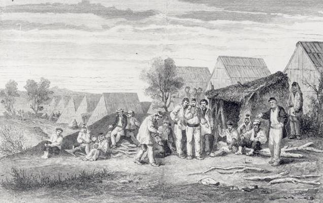 Deportee Camp on the Cros Peninsula, New Caledonia, 1873