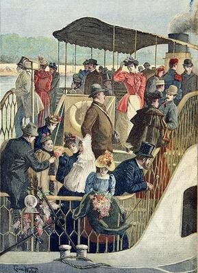 Parisians Returning from the Countryside, illustration from 'Le Petit Journal', 23rd April 1894