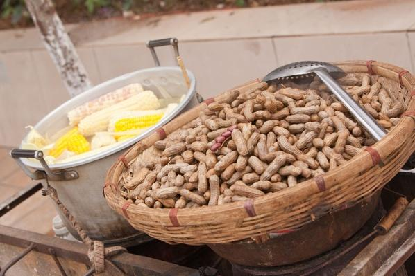 Peanuts and Corn For Sale on the Street | Earth's Resources