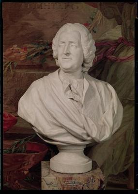 Portrait bust of Jacques-Ange Gabriel by Lemoyne, Jean Baptiste II (1704-78)